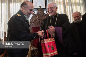 دیدار سردار رحیمی با اسقف اعظم ارامنه