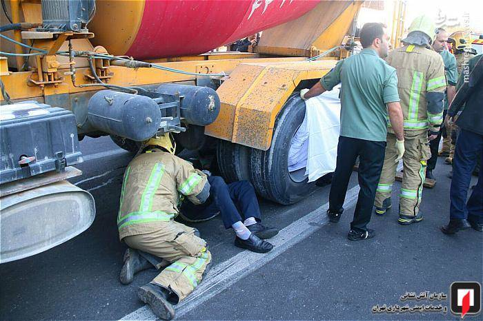 عکس تصادف مرگبار عکس تصادف دلخراش حوادث واقعی حوادث تهران تصادف در تهران تصادف داخراش بونکر سیمان اخبار تصادف