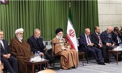 دیدار شرکت کنندگان در کنفرانس اتحادیه بین المجالس با رهبر انقلاب