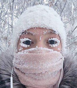 عکس/ سلفی در سرمای منفی ۵۰ درجه