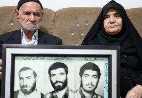 مادر «سه شهید» درگذشت + عکس,