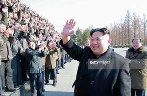 رهبر کره شمالی در دانشکده زنان