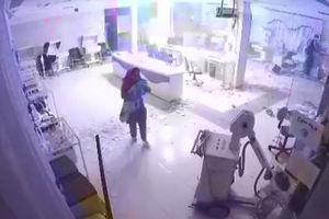 فیلم/ لحظه وقوع زلزله در بخش نوزادان بیمارستان
