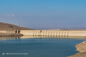 کاهش آب ورودی سد اکباتان