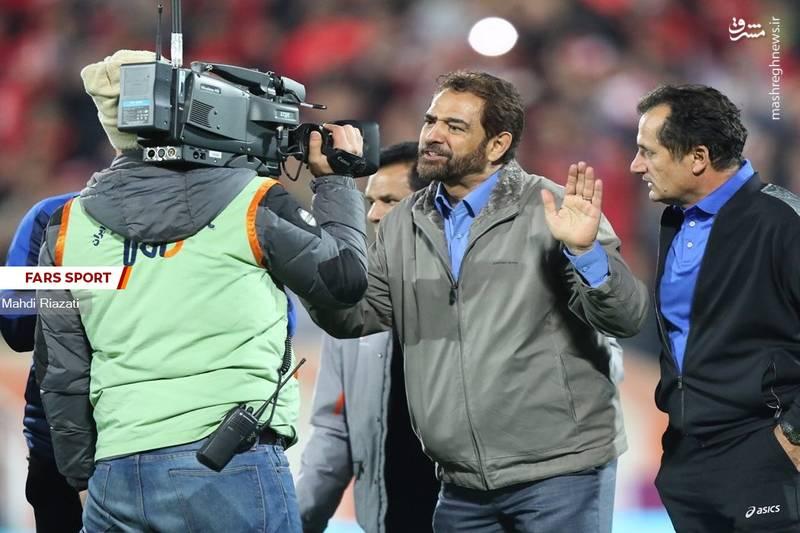 عکس/اقدام عجیب فیروز کریمی در پایان بازی با پرسپولیس