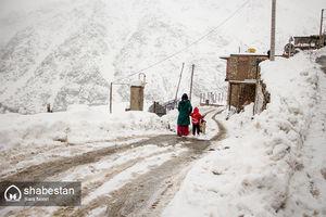 بارش برف در ارتفاعات کردستان