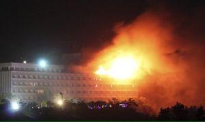 اولین تصاویر از انفجار در هتل اینترکنتیننتال کابل