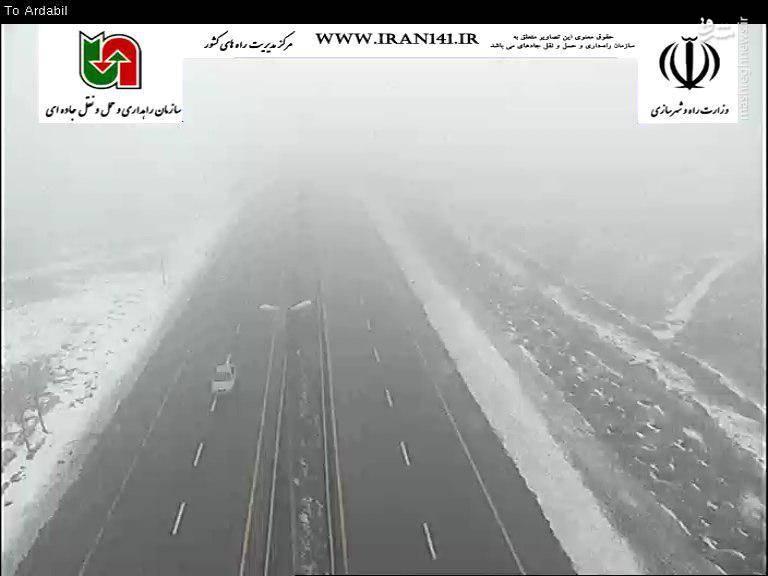 محوراردبیل-سرعین بارش برف 30دیماه ساعت:09:20