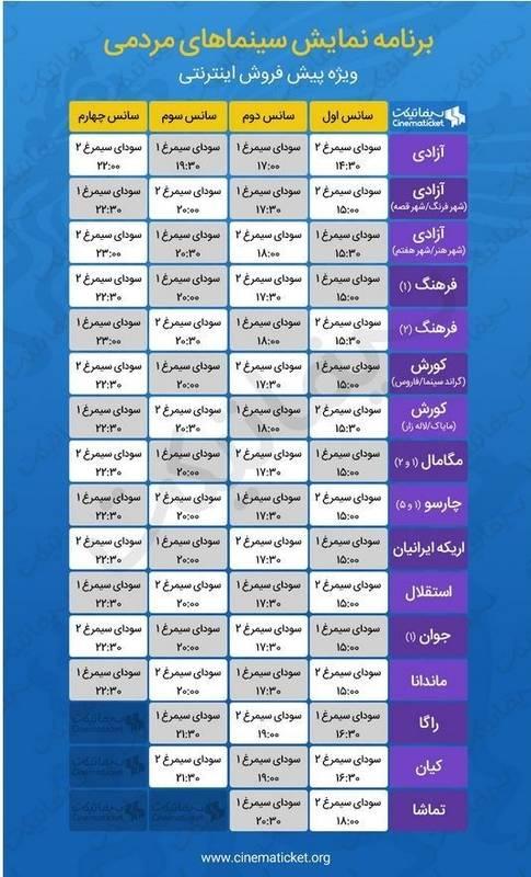 آغاز فروش بلیت های سی وششمین جشنواره فیلم فجر+لینک خرید