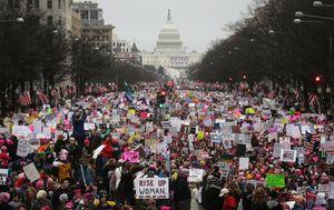 فیلم/ تظاهرات سراسری زنان آمریکا علیه ترامپ