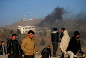 فیلم/ حمله تروریستی به هتل اینترکانتیننتال کابل