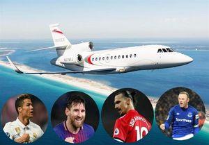 گرانترین جتهای شخصی متعلق به کدام ستارههای فوتبال است؟ +عکس