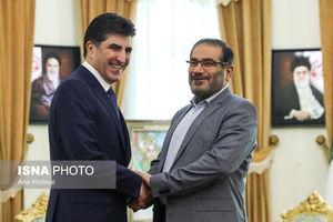 عکس/ دیدار نخستوزیر اقلیم کردستان با شمخانی