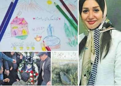 نقاشی قاتل زن جوان از صحنه قتل +عکس