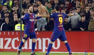 برد پرگل بارسلونا با دبل مسی و سوارس