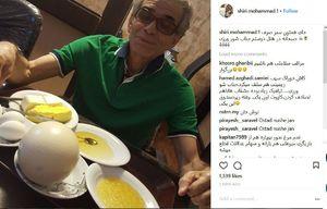 عکس/ صبحانه عجیب آقای بازیگر در هتل!