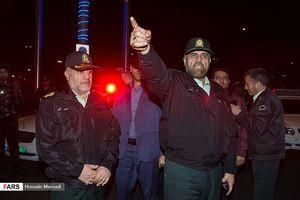 عکس/ عملیات شبانه پلیس تهران