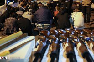 عملیات شبانه پلیس تهران