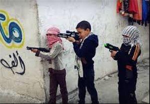 تأثیر جنگ بر بازیهای کودکان فلسطینی +عکس