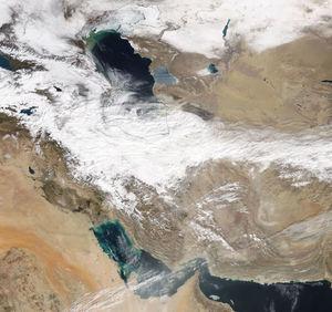 تصویر ماهوارهای از وضعیت آب و هوای امروز ایران