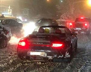 عکس/ حرکت عجیب پورشهسوار در برف !