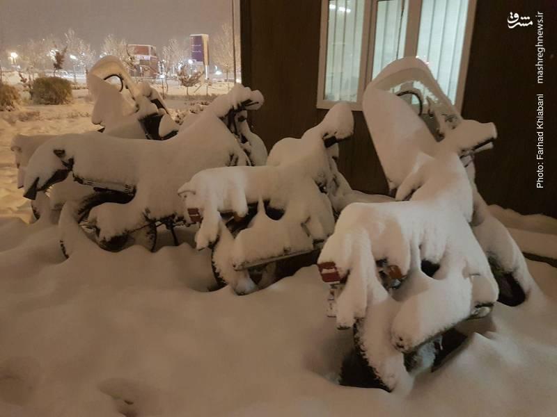 اینها نیز پیش از آغاز بارش برف، موتورسیکلت بوده اند
