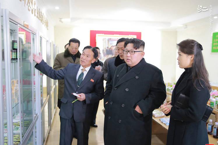 تصویری از رهبرکره شمالی در کنار همسرش