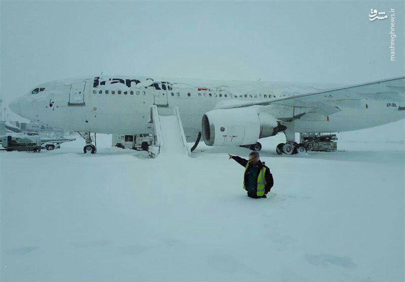 بارش برف نیم متری در فرودگاه امام خمینی(ره)