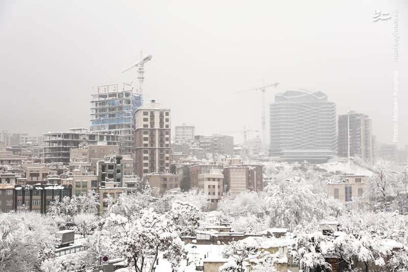نمایی از منطقه شهرک غرب تهران