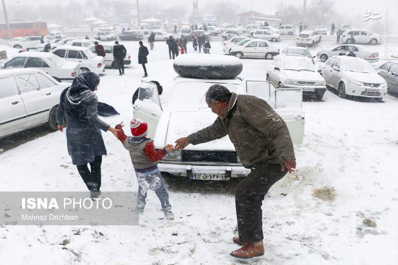 بارش قابل توجه برف در تاراز خوزستان