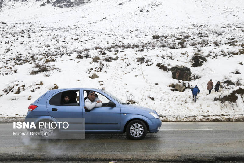 بارش برف در منطقه کوهستانی تاراز خوزستان