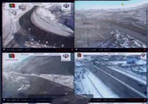 فیلم/ محورهای مسدود شده با برف