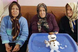 عکس/ آدم برفی مادر بزرگها