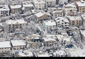 عکس های هوایی از تهران برفی