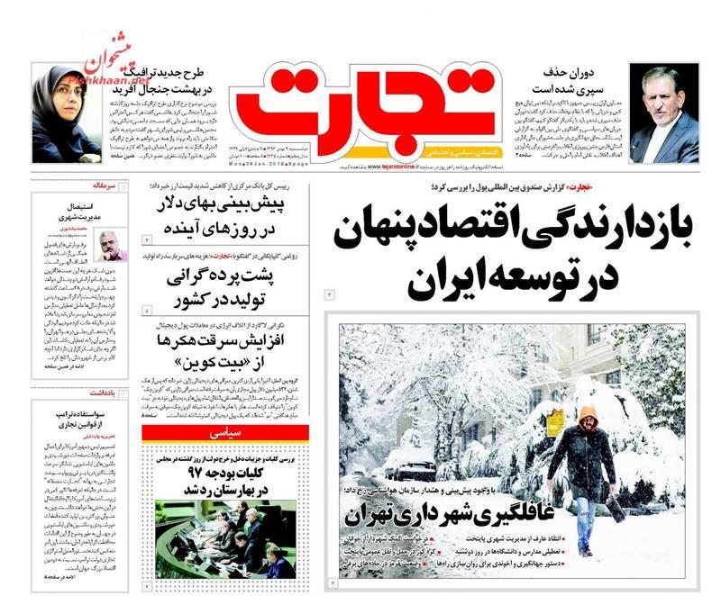 تجارت: بازدارندگی اقتصاد پنهان در توسعه ایران