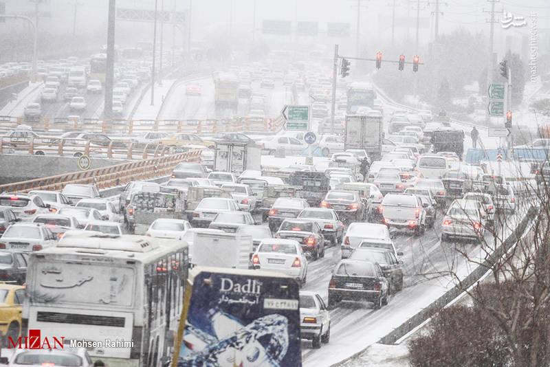عکس از برف امروز مشهد