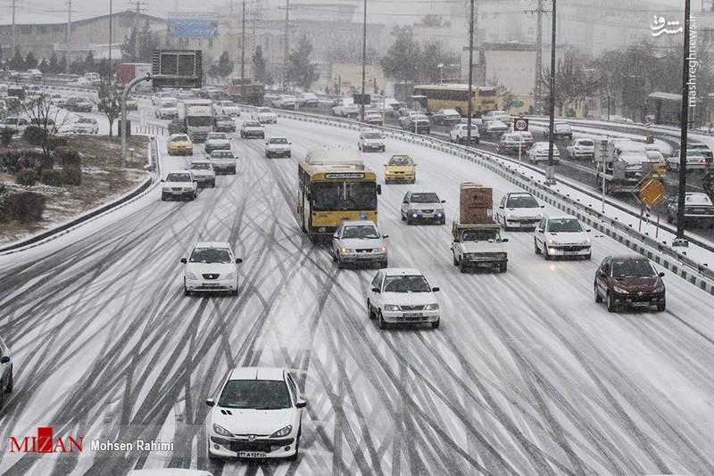 عکس های برف مشهد