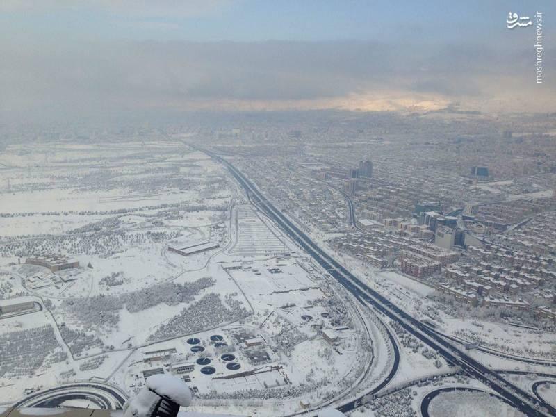 عکس شهر تهران برج میلاد