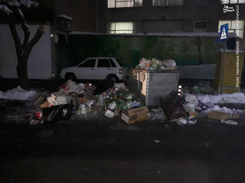 خدمات شهرداری تهران پس از بارش برف