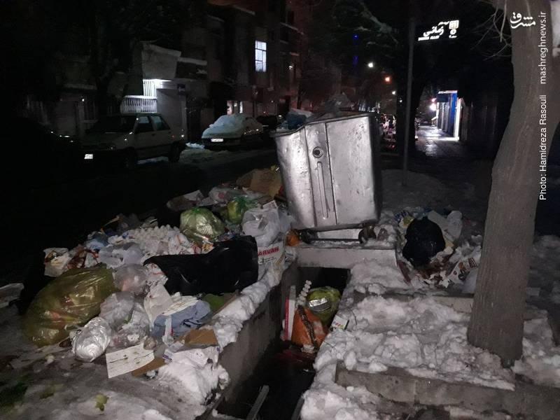 اوضاع نابسامان برخی از مناطق تهران پس از بارش برف