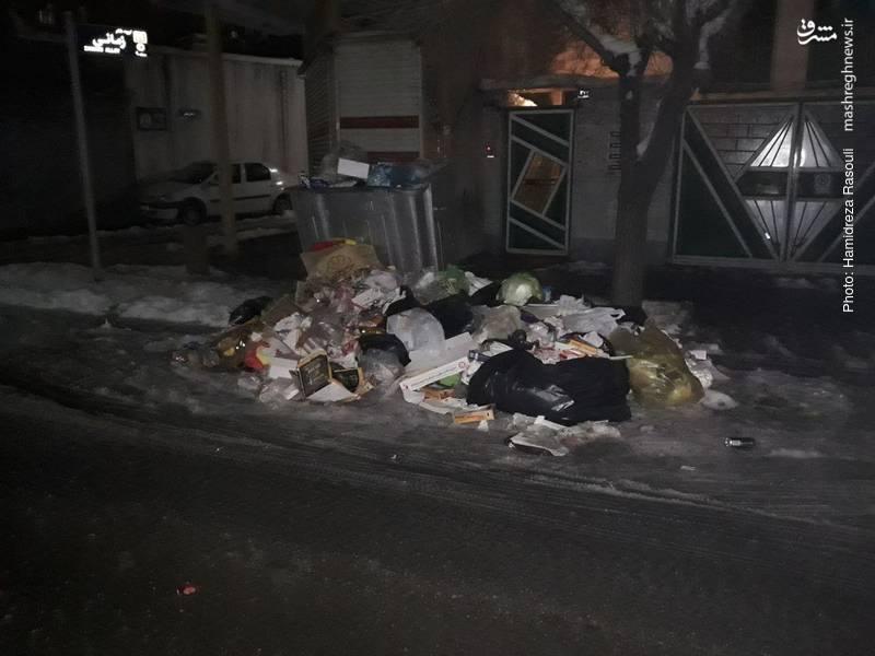 کم کاری شهرداری تهران پس از بارش برف