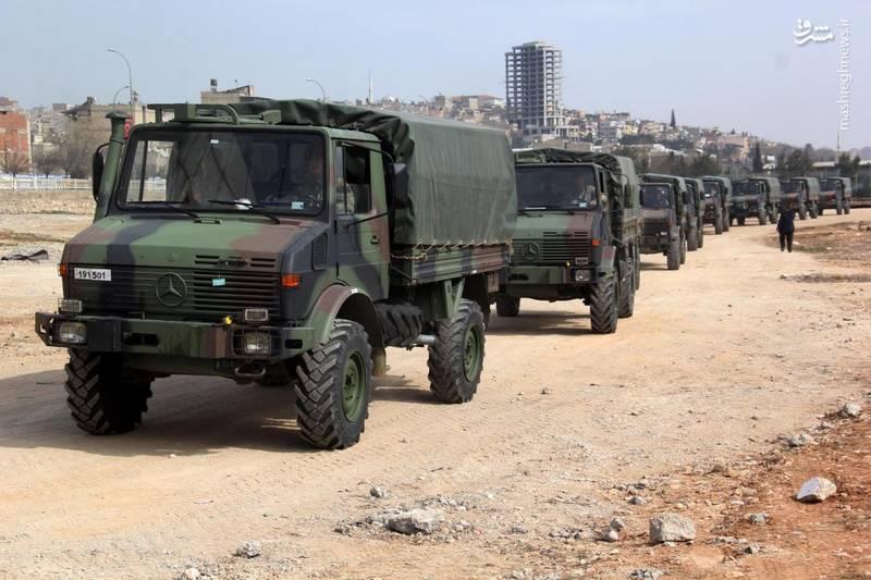 کاروان نظامی ارتش ترکیه