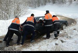 عکس/ عملیات بازگشایی جاده سیاهکل به دیلمان