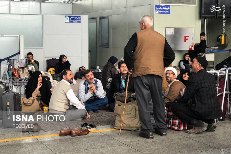 وضعیت نامناسب استراحت مسافران در فرودگاه