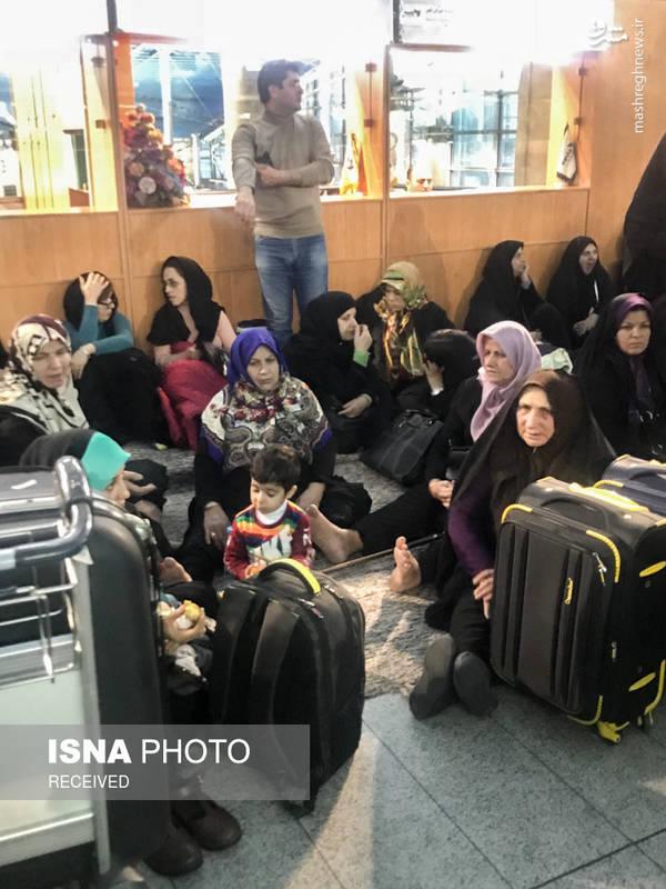 اوضاع نامناسب مسافران در فرودگاه