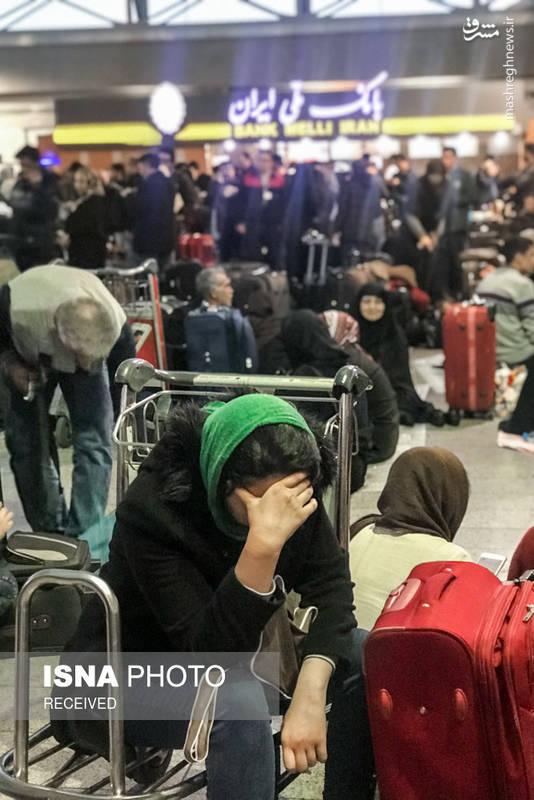 خستگی مسافران به دلیل انتظار طولانی برای پرواز
