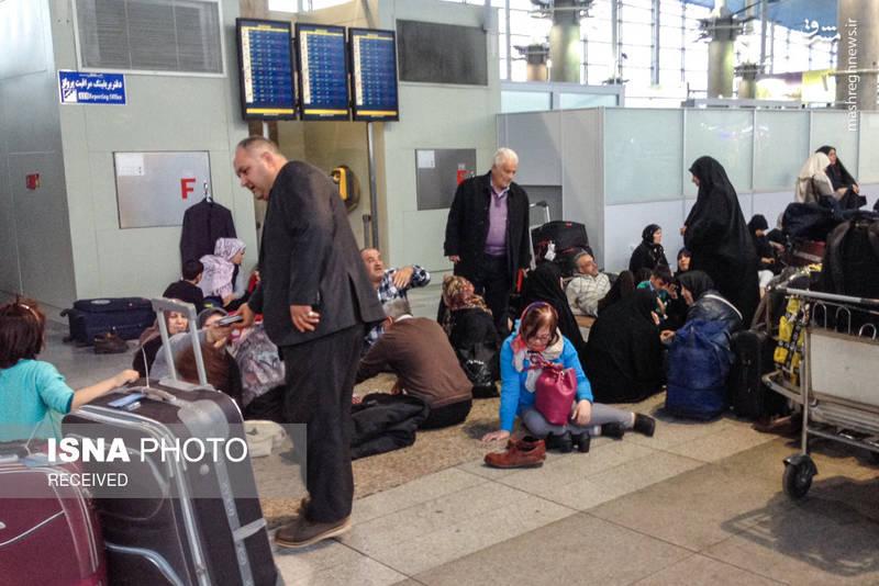 استراحت مسافران در مکان های نامناسب به دلیل عدم امکانات