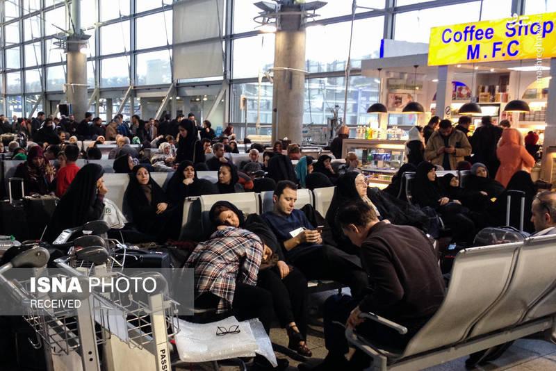 سرگردانی مسافران در فرودگاه امام خمینی(ره)