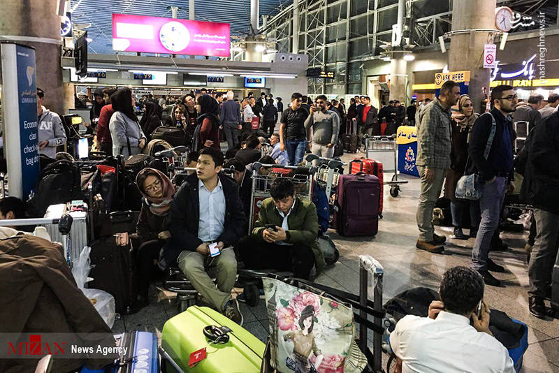 اوضاع نامناسب مسافران در فرودگاه امام خمینی (ره)