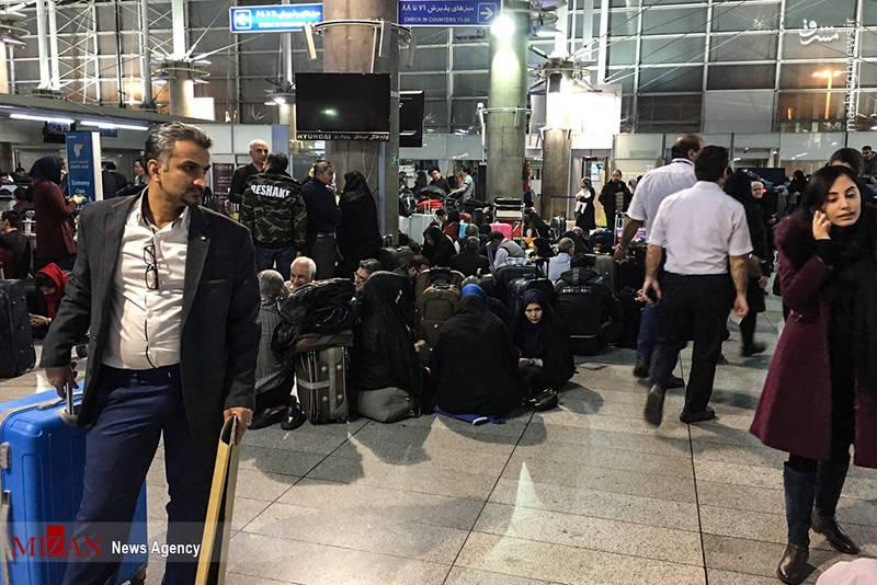 انتظار 72 ساعته مسافران در فرودگاه